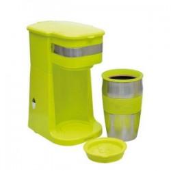 Cafetière individuelle électrique avec mug de voyage isotherme