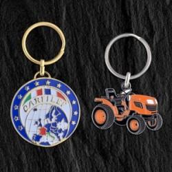 Porte-clés fer émail Eco, 30 mm