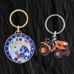 Porte-clés fer émail Eco, 40 mm