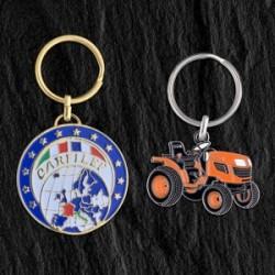 Porte-clés fer émail Eco, 50 mm