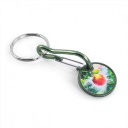 Porte-clés jeton aluminium-marquage 1 couleur