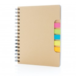 Carnet de notes A5 Kraft avec notes autocollantes