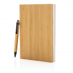 Set carnet de notes A5 et stylo en bambou