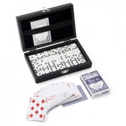 Set de 2 jeux de cartes et de 28 dominos