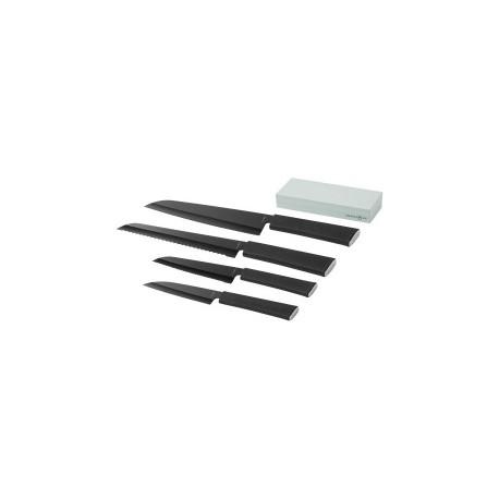 Set de 4 couteaux et une pierre à aiguiser Element