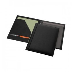 Conférencier A4 en cuir véritable livré avec bloc-papier
