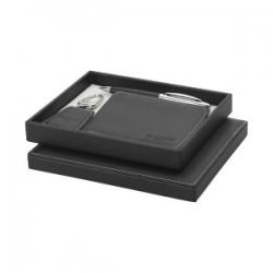 Parure stylo à bille/portefeuille/porte-clés Millau